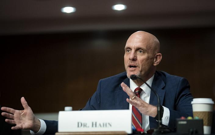 Stephen Hahn, commissioner of food and drugs at the U.S. Food and Drug Administration