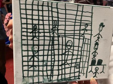 A drawing by children recently released from CBP depicting their time spent in U.S. Customs and Border Protection (CBP) custody