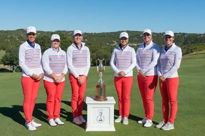 The United States of America captured the Inaugural Womens PGA Cup by four strokes over Team Canada Saturday at the Omni Barton Creek Resort & Spa. The United States Team consists of (L-R): PGA President and U.S. Team Captain Suzy Whaley of Palm Beach Gardens, Fla.; Brittany Kelly of Indianapolis, Indiana; Ashley Grier of Springfield, Pennsylvania; Seul-Ki Park of Winchester, Massachusetts; Alison Curdt of Reseda, California; and Joanna Coe of Lutherville-Timonium, Maryland.
