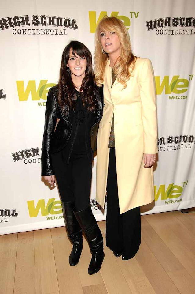 "Also in New York this week were Lindsay Lohan's younger sister Ali and her ""momager"" Dina. The mother-daughter duo are starring in an upcoming reality show chronicling Ali's quest for fame. The 14-year-old told Teen Vogue she idolizes her older sister and wants to be famous ""so bad you don't even know."" Gary Gershoff/<a href=""http://www.wireimage.com"" target=""new"">WireImage.com</a> - March 5, 2008"