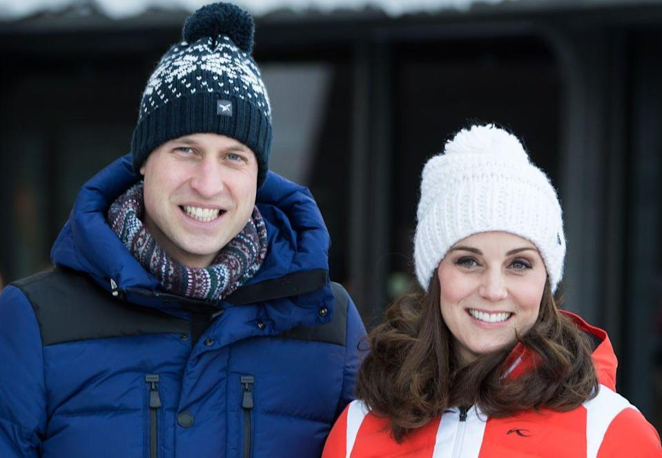 "<p>Kate and William love to ski, and, in fact, they were first <a href=""https://www.theguardian.com/media/2004/apr/01/pressandpublishing.themonarchy"" rel=""nofollow noopener"" target=""_blank"" data-ylk=""slk:outed as a couple"" class=""link rapid-noclick-resp"">outed as a couple</a> by <em>The Sun</em> when they were photographed kissing on a ski trip together during college. In March 2016, they took Princess Charlotte on her first family vacation, which was a ski trip in the French Alps.<br></p>"