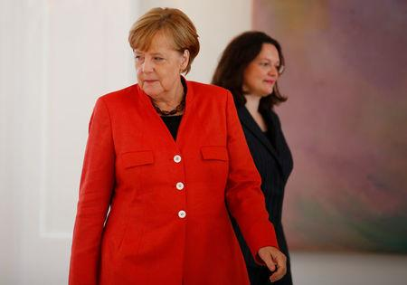 Germany's Merkel to name aide Altmaier as stand-in finance minister