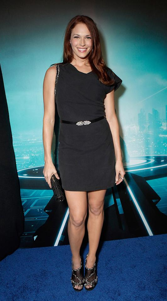 """<a href=""""http://movies.yahoo.com/movie/contributor/1809610986"""">Amanda Righetti</a> attends the Los Angeles premiere of <a href=""""http://movies.yahoo.com/movie/1810096458/info"""">TRON: Legacy</a> on December 11, 2010."""