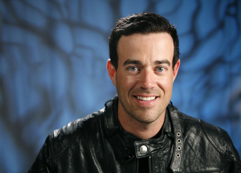 "FILE - In a Tuesday, April 26, 2011 file photo, TV personality Carson Daly poses for a portrait in New York. NBC says beginning Monday, Sept. 16, 2013, Daly is joining the on-air team at the ""Today"" show. Daly will be host of the Orange Room, a digital studio that will be part of the show's revamped Manhattan home, Studio 1A. (AP Photo/Jeff Christensen, File)"