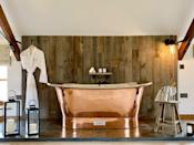 """<p>Check out the copper bath in this stunning Airbnb in Norfolk! Part of a grade II listed thatched 16th century residence, the Coach House combines the luxury of a hotel with homely essentials. The first floor bedroom is where you'll find the incredible tub, while there's plenty of space to spread out in the open-plan sitting room and kitchen. If your idea of the perfect break is waking up to the sounds of birds singing and the bees buzzing, you'll want to consider this rental.</p><p><strong>Sleeps: </strong>Two</p><p><a class=""""link rapid-noclick-resp"""" href=""""https://airbnb.pvxt.net/gb6V42"""" rel=""""nofollow noopener"""" target=""""_blank"""" data-ylk=""""slk:BOOK NOW"""">BOOK NOW</a></p>"""