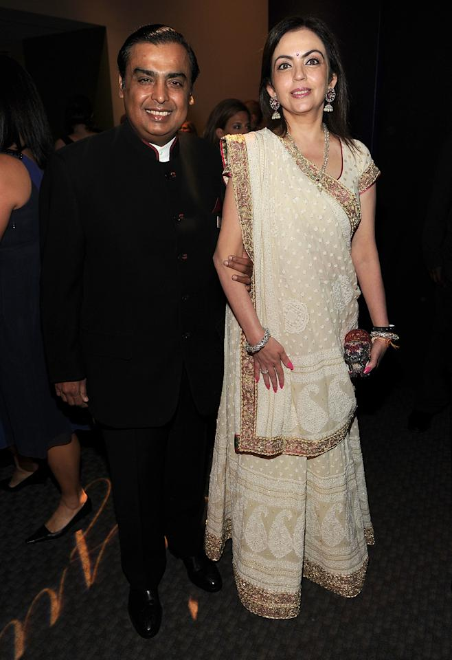 NEW YORK, NY - APRIL 26:  Chairman and Managing Director of Reliance Industries Mukesh Ambani (L) attends the TIME 100 Gala, TIME'S 100 Most Influential People In The World at Frederick P. Rose Hall, Jazz at Lincoln Center on April 26, 2011 in New York City.  (Photo by Larry Busacca/Getty Images for TIME)