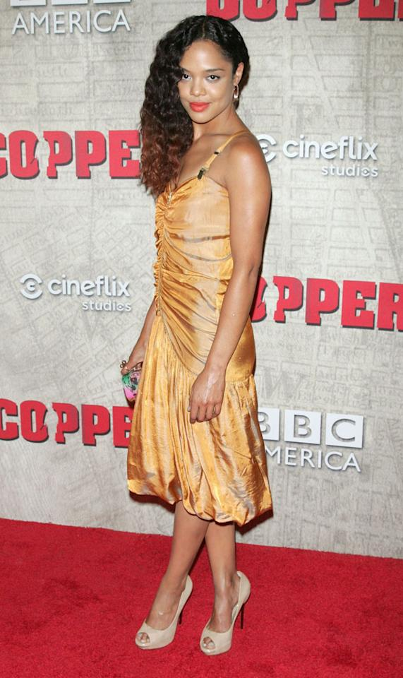 """Tessa Thompson attends the """"Copper"""" premiere at The Museum of Modern Art on August 15, 2012 in New York City."""