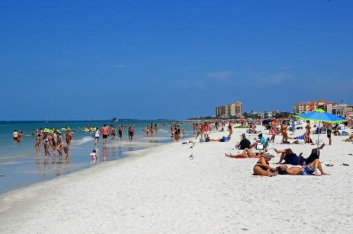 Florida beaches were still crowded in despite health warnings against public gatherings