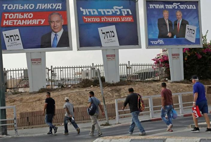 Opinion polls suggest the Israeli polls will be very tight, and the result could even prove another stalemate (AFP Photo/HAZEM BADER)