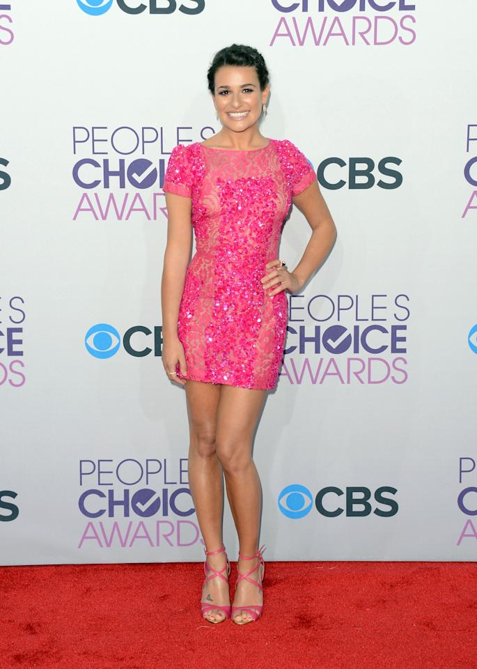 Lea Michele attends the 39th Annual People's Choice Awards at Nokia Theatre L.A. Live on January 9, 2013 in Los Angeles, California.