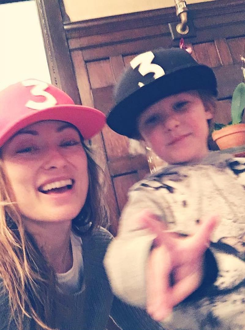 """<p>Olivia and Jason Sudeikis's son, Otis, was feeling the V-Day love as well. The actress shared a photo of him, also captioned with a heart, wearing matching Chance the Rapper hats. (Photo: <a rel=""""nofollow noopener"""" href=""""https://www.instagram.com/p/BQf1ZLNjO1p/?taken-by=oliviawilde&hl=en"""" target=""""_blank"""" data-ylk=""""slk:Instagram"""" class=""""link rapid-noclick-resp"""">Instagram</a>) </p>"""