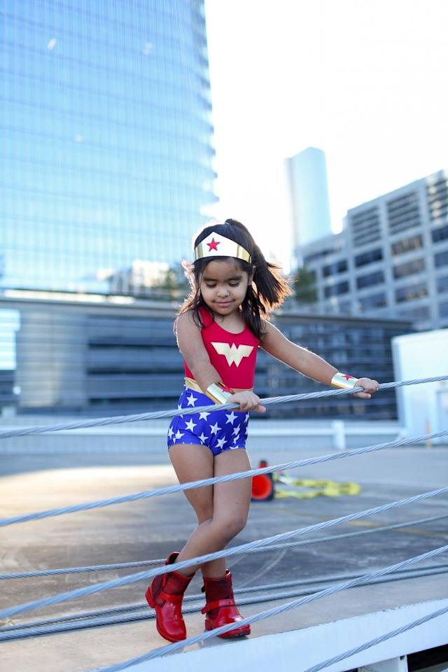 "<p>When it comes to <a href=""https://www.countryliving.com/entertaining/a40250/heres-why-we-really-celebrate-halloween/"">Halloween</a>, no one can outshine Wonder Woman! She's smart, quick-witted, and tough as nails. Yes, that definitely sounds like you! But don't worry: Putting together the perfect DIY Wonder Woman costume for Halloween (whether it's for you or your <a href=""https://www.countryliving.com/diy-crafts/g1360/halloween-costumes-for-kids/"">little one</a>) doesn't have to be expensive or hard. It can be as simple or challenging as you want it to be. All that matters is keeping with the red, white, and blue theme when you're channeling this particular defender of righteousness. </p><p>You probably own some wardrobe basics already to make this <a href=""https://www.countryliving.com/diy-crafts/g21345654/diy-superhero-costumes/"">superhero costume</a> happen. Start with a blue skirt or leggings, and then add some white star stickers or patches. A red tank works for the top. Glitter craft foam is perfect for the headband and wristbands, and anything from sneakers to ballet flats to boots can be your footwear. The point is to create a version of Wonder Woman that reflects your own personality and taste. After all, what's more powerful than a woman who knows what she wants?<br> <br>You can either craft the costume yourself or go the store-bought route, so we've rounded up a few of the best shoppable and DIY Wonder Woman Halloween costumes to help you along. Whether you want to pay respects to the iconic Lynda Carter costume or the modern-day Gal Gadot version, here's how to powerfully pull off  your personalized Wonder Woman costume.<br></p>"