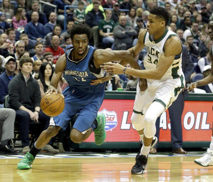 The Wolves have to decide whether to commit to Andrew Wiggins for the long haul. (AP)