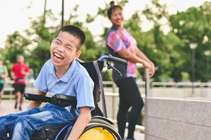 """<span class=""""caption"""">Rising fears over mask wearing could lead to exclusion of people with disabilities.</span> <span class=""""attribution""""><a class=""""link rapid-noclick-resp"""" href=""""https://www.shutterstock.com/image-photo/disabled-child-on-wheelchair-play-learn-1425638633"""" rel=""""nofollow noopener"""" target=""""_blank"""" data-ylk=""""slk:AnnGaysorn/Shutterstock"""">AnnGaysorn/Shutterstock</a></span>"""