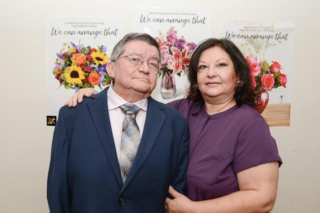 Carlos Soto and his wife Jessielee Hernandez, owners of the California floral service Flowers From Our Heart. They've been turning down business lately because they can't find enough workers to take orders. Photo courtesy of Carlos Soto