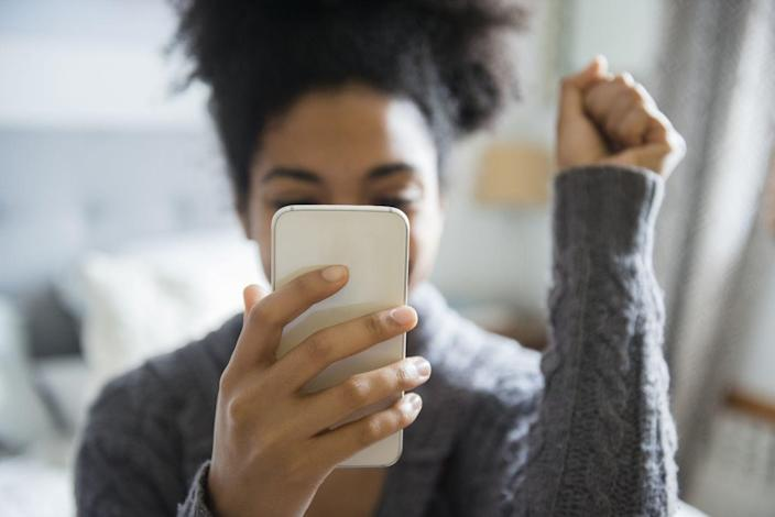"""<p>Your smartphone screens are way dirtier than you think, but according to Merry Maids, you can <a href=""""https://www.merrymaids.com/cleaning-tips/quick-tips/how-to-clean-and-disinfect-electronic-devices/"""" rel=""""nofollow noopener"""" target=""""_blank"""" data-ylk=""""slk:keep your handheld electronics clean"""" class=""""link rapid-noclick-resp"""">keep your handheld electronics clean</a> with an antimicrobial spray and a microfiber cloth. Simply dampen a microfiber cloth with the spray (being careful not to oversaturate the cloth) and your cell phone, tablet, or other handheld device down, avoiding all openings. Afterwards, let screens dry completely before plugging devices back in or powering them on.</p><p>Computer and laptop screens can be cleaned using a dry microfiber cloth, but if smears or dust linger, you can dip the cloth into a solution of diluted dish soap. You'll only need a single drop of soap and the water should be warm.</p>"""