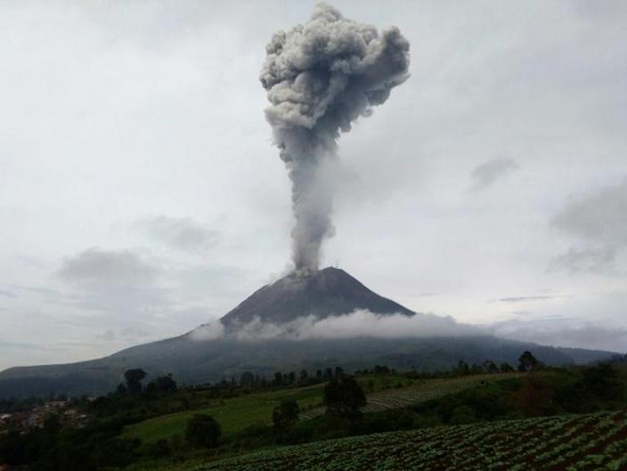 Mount Sinabung lay dormant for centuries before roaring back to life in 2010