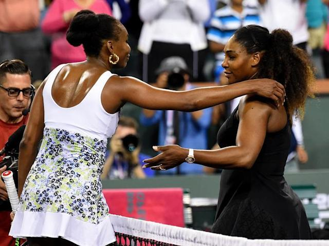Venus Williams a sortie sa sœur Serena à Indian Wells /Photo prise le 13 mars 2018/REUTERS/Jayne Kamin-Oncea