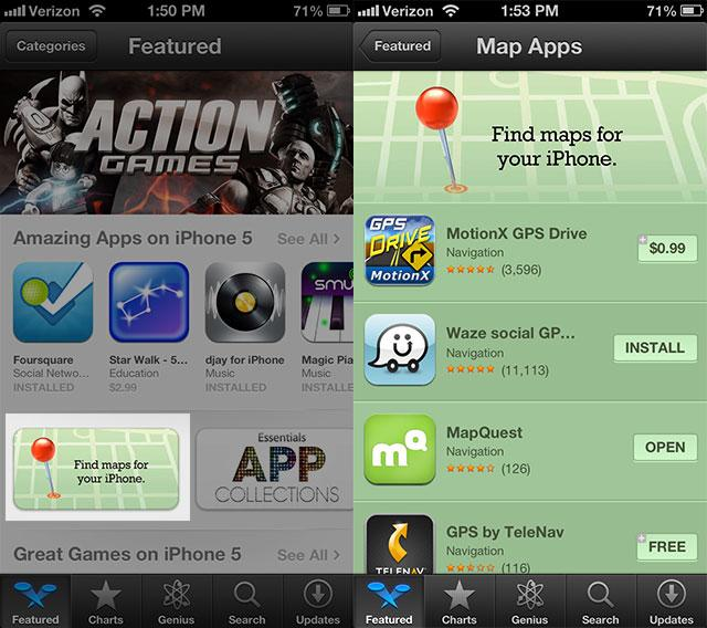 Apple Shows Off Maps Alternatives in App Store