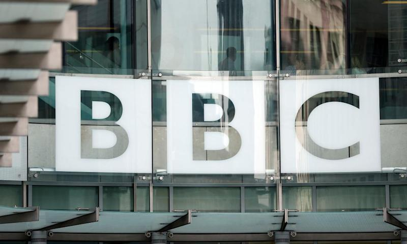 The BBC logo at Broadcasting House in London