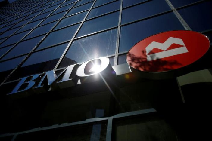 FILE PHOTO: A Bank of Montreal (BMO) sign is seen outside of a branch in Ottawa