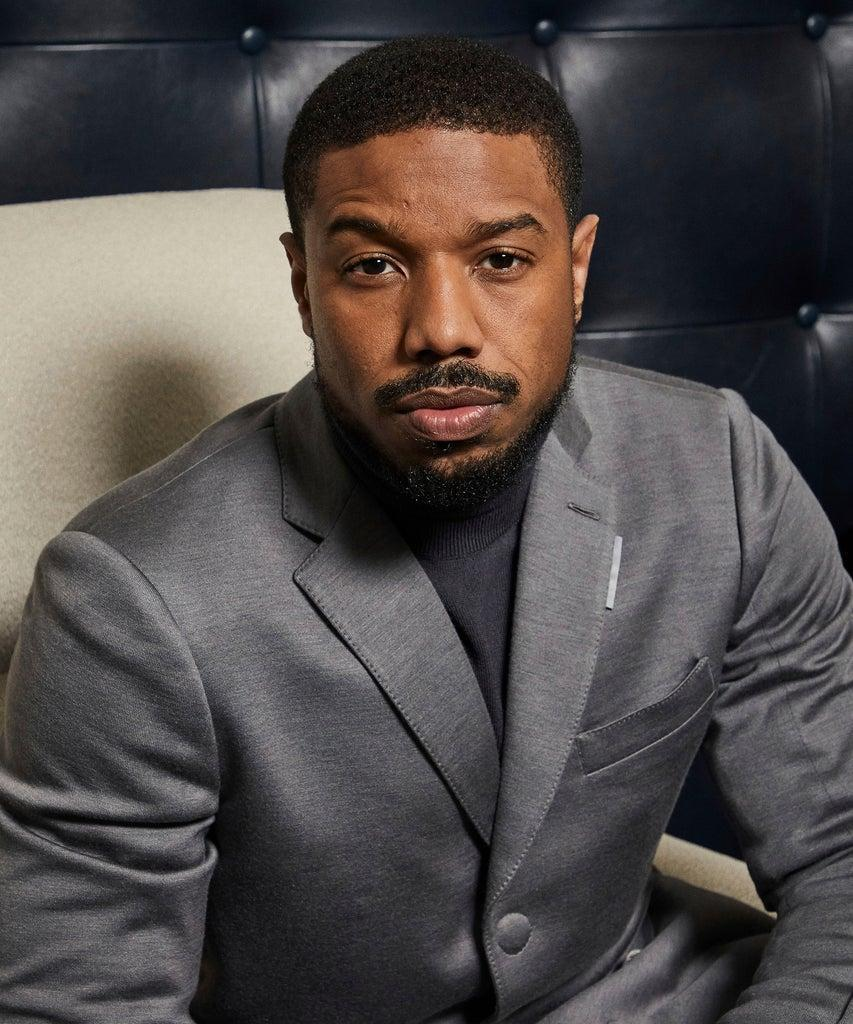 "Mandatory Credit: Photo by Matt Licari/Invision/AP/Shutterstock (10512627d) This photo shows Michael B. Jordan posing for a portrait in New York to promote the film ""Just Mercy ""Just Mercy"" Portrait Session, New York, USA – 16 Dec 2019"