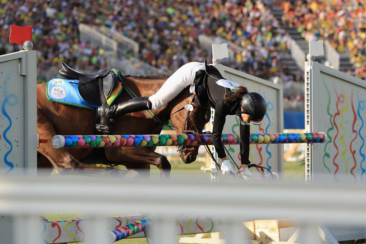 The toughest portion of modern pentathlon may be show jumping with unfamiliar horses