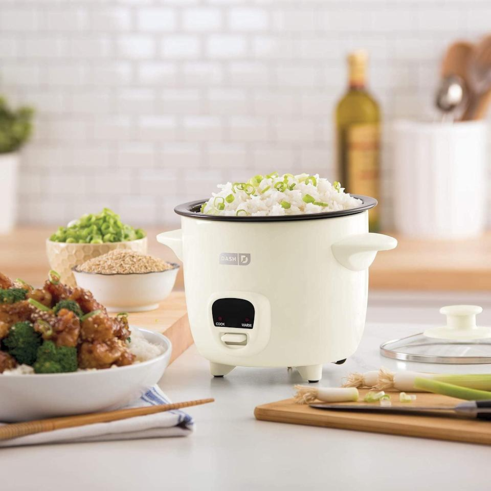 <p>Make freshly steamed rice and other grains with ease with the <span>Dash Mini Rice Cooker Steamer</span> ($30). It has a removable non-stick pot and a keep warm function. It comes in a variety of colors. </p>
