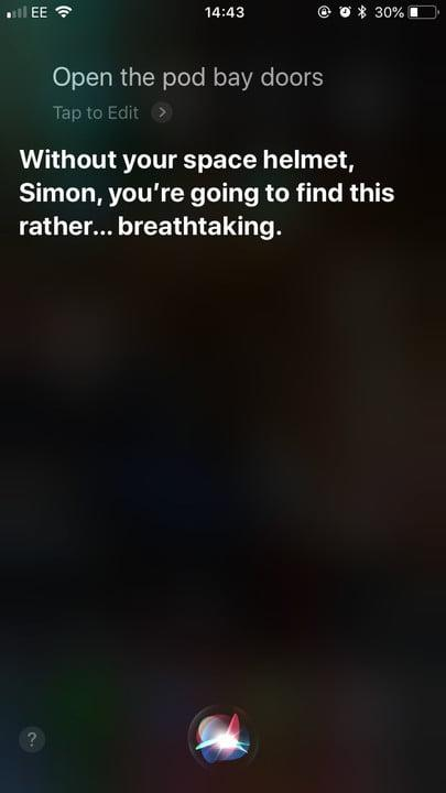 funny questions to ask siri pod bay doors 3