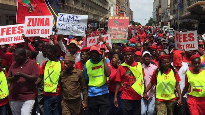 In 2016, thousands marched in the capital, Pretoria, calling for Mr Zuma to step down over the graft allegations