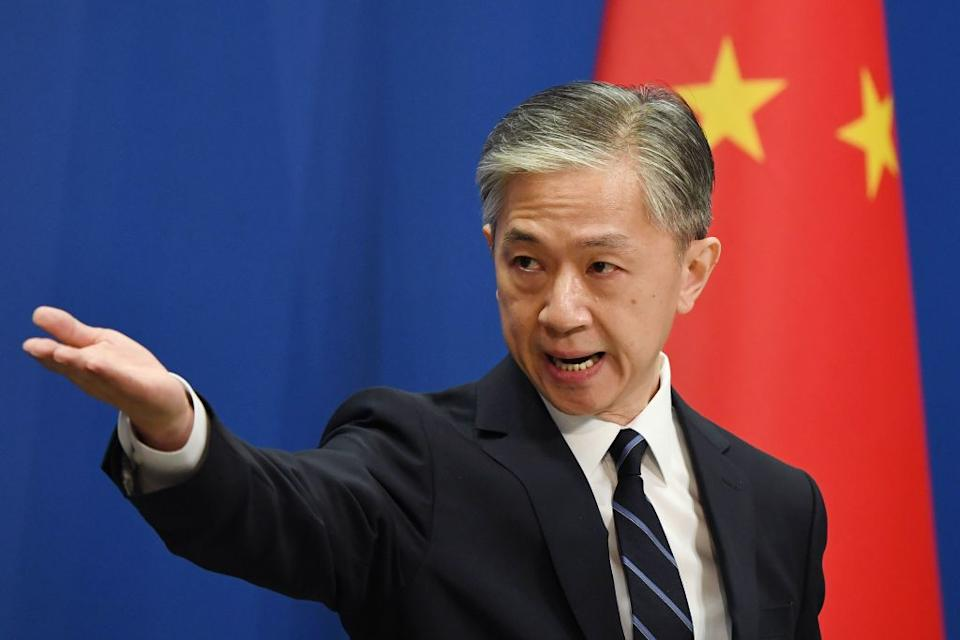 Pictured is Chinese Foreign Ministry spokesman Wang Wenbin.