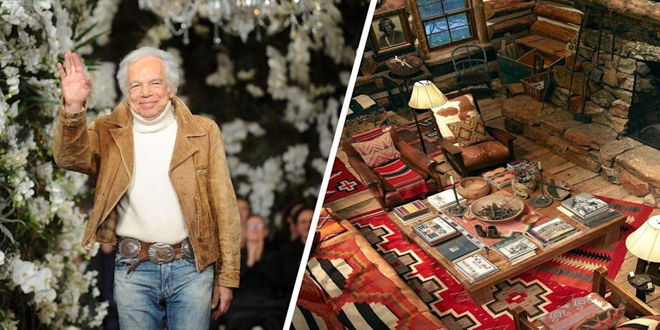 "<p>Fashion icon Ralph Lauren just celebrated his brand's <a href=""https://www.elledecor.com/celebrity-style/celebrity-homes/a23602115/ralph-lauren-double-rl-colorado-ranch-cover-story/"" rel=""nofollow noopener"" target=""_blank"" data-ylk=""slk:50th anniversary"" class=""link rapid-noclick-resp"">50th anniversary</a>, so it's no surprise that his much-talked-about Double RL Ranch in Colorado is a sight to behold. Not only does the acreage of Lauren's ranch exceed the total area of Manhattan—it's complete with a main lodge, several cabins, hand-painted canvas tepees, and a screening room. <br></p>"
