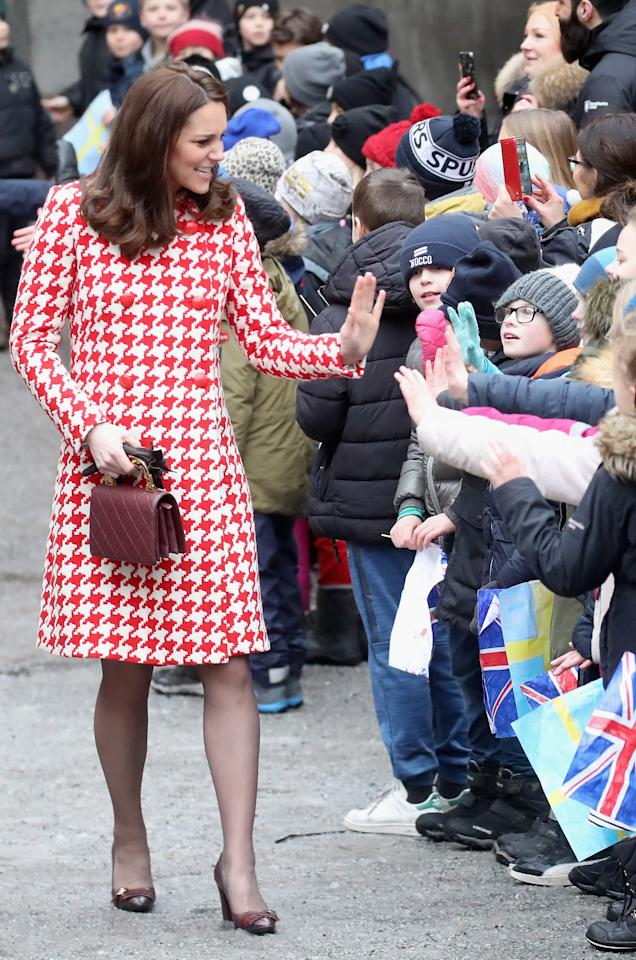 <p>The Duchess of Cambridge may fall behind sister-in-law Meghan in this year's charts but she still reigns as one of the most influential royals in recent history. Whether it's her seriously coveted maternity style or charitable endeavours, the 37-year-old continues to reign the headlines. <em>[Photo: Getty]</em> </p>