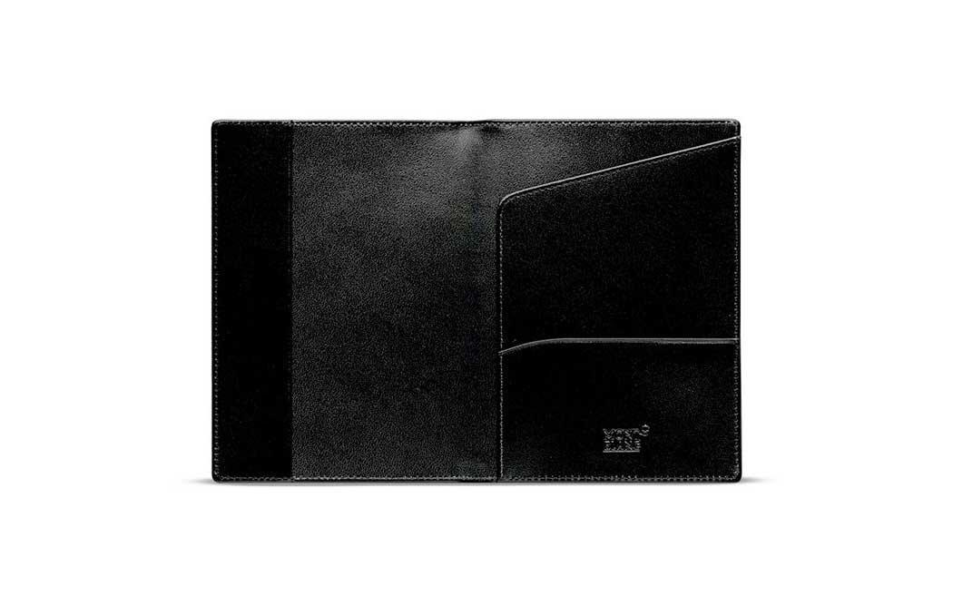"""<p>Traditionalists will love the micro-stitched detail. Crafted in European full-grain cowhide leather, this jet-black case has room for your passport, cards, and other small documents.</p> <p>To buy: <a href=""""https://click.linksynergy.com/deeplink?id=93xLBvPhAeE&mid=13867&murl=https%3A%2F%2Fwww.bloomingdales.com%2Fshop%2Fproduct%2Fmontblanc-meisterstuck-passport-holder&u1=TL%2CLeatherPassportHoldersThatAreMadetoLast%2Cszypulsr%2CTRA%2CGAL%2C666640%2C201910%2CI"""" target=""""_blank"""">bloomingdales.com</a>, $215</p>"""