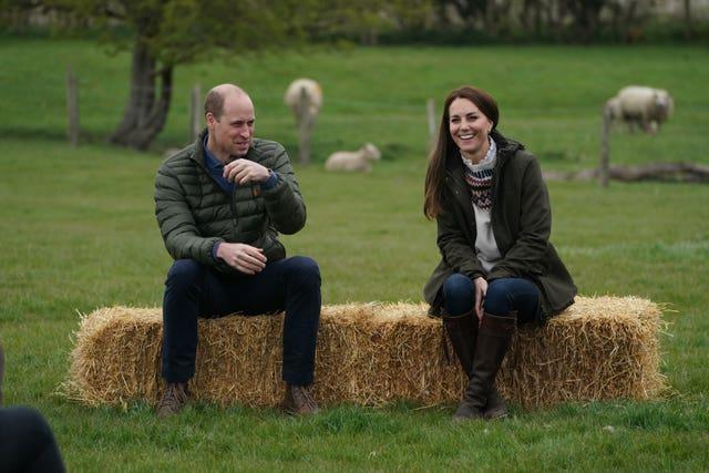 The Duke and Duchess of Cambridge at Manor Farm in Little Stainton, Durham