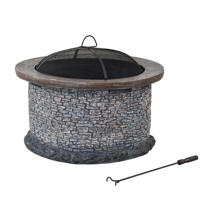 """<p><strong>Williston Forge</strong></p><p>wayfair.com</p><p><strong>$259.99</strong></p><p><a href=""""https://go.redirectingat.com?id=74968X1596630&url=https%3A%2F%2Fwww.wayfair.com%2Foutdoor%2Fpdp%2Fwilliston-forge-nolia-stone-32-in-round-wood-burning-firepit-w005273680.html&sref=https%3A%2F%2Fwww.countryliving.com%2Fshopping%2Fg37026239%2Fbest-outdoor-fire-pits%2F"""" rel=""""nofollow noopener"""" target=""""_blank"""" data-ylk=""""slk:Shop Now"""" class=""""link rapid-noclick-resp"""">Shop Now</a></p><p>This attractive wood burning fire pit comes with a lid and has a faux stone facade to boost your patio's style factor. At 24.2'' H x 32'' W, it has plenty of space for marshmallow roasting.</p>"""