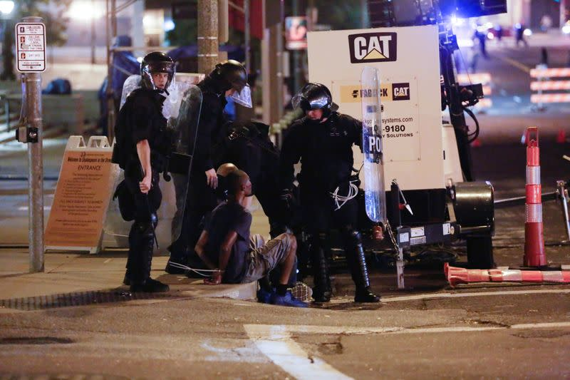 Protests on the streets of St. Louis