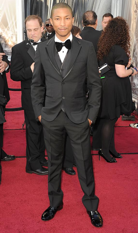 Pharrell Williams arrives at the 84th Annual Academy Awards in Hollywood, CA.