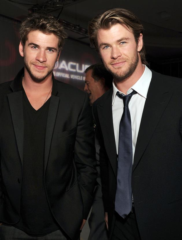 Chris Hemsworth and Liam Hemsworth photos: We can't believe our luck, there's two of them! Copyright [Getty]