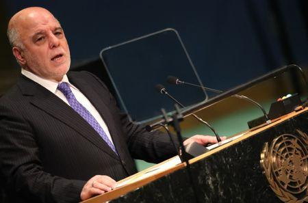 Prime Minister Haider Al-Abadi of Iraq addresses the United Nations General Assembly in New York