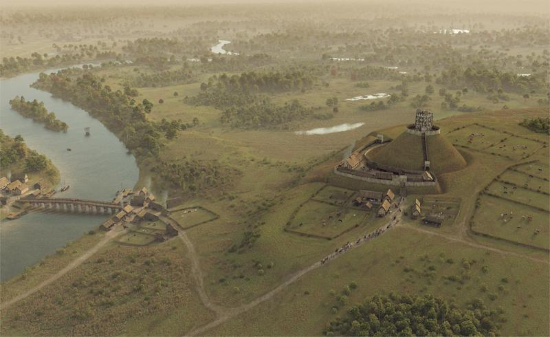An artist's impression shows for the first time what Windsor Castle would have looked like in around 1085 – just a decade and a half after it was constructed: Royal Collection Trust/Bob Marshall