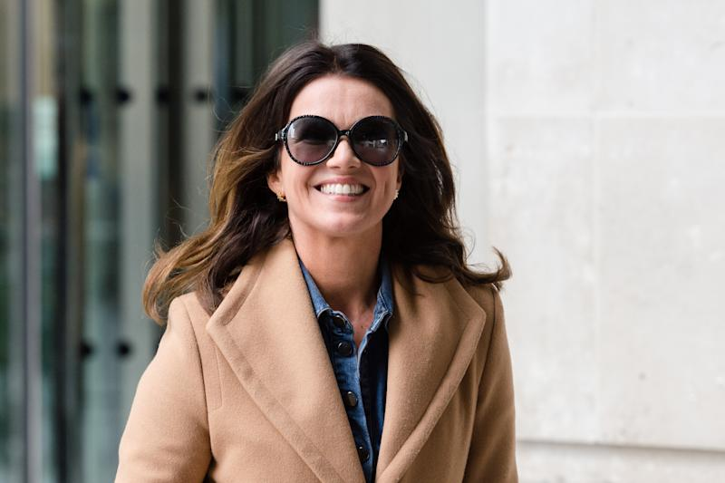 Susanna Reid leaves the BBC Broadcasting House in central London after appearing on The Andrew Marr Show on 14 July, 2019 in London, England. (Photo by WIktor Szymanowicz/NurPhoto via Getty Images)