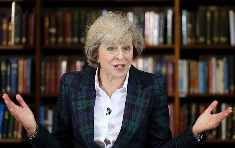 British Interior minister Theresa May, the frontrunner for the prime minister post, said that if she won, she would push for a new trade deal with the EU that limits immigration (AFP Photo/Frantzesco Kangaris)