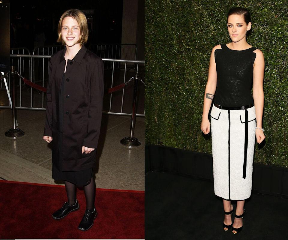 """<p><em>Then: </em>At the <em>Panic Room</em> premiere in 2002</p><p><em>Now: </em><span class=""""redactor-invisible-space"""">At the </span>Chanel And Charles Finch Pre-Oscar Dinner</p>"""