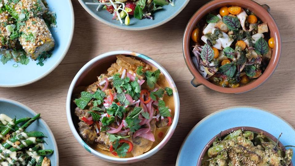 Dishes from the opening menu. - Credit: Photo: courtesy Galdones Photography