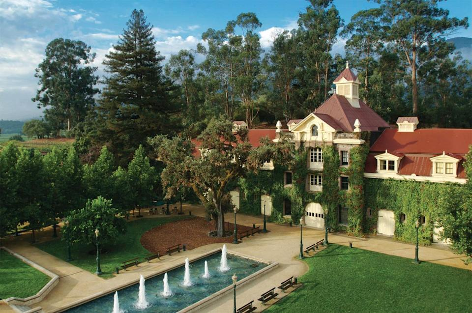 """<p> Since 1975, when he bought a portion of the Inglenook Estate, director Francis Ford Coppola has been restoring this historic winery and its 19th-century buildings. One such building is the château, built in 1881 by William Mooser, a San Francisco architect, and Hamden W. McIntyre, who oversaw the winery design and would go on to become one of the region's most sought-after winery designers. </p><p><a href=""""https://www.inglenook.com/"""" rel=""""nofollow noopener"""" target=""""_blank"""" data-ylk=""""slk:Inglenook"""" class=""""link rapid-noclick-resp"""">Inglenook</a> offers several tastings and tours and is a featured stop on the <a href=""""https://www.winetrain.com/"""" rel=""""nofollow noopener"""" target=""""_blank"""" data-ylk=""""slk:Napa Valley Wine Train"""" class=""""link rapid-noclick-resp"""">Napa Valley Wine Train</a> Estate Tour. Reservations are encouraged. </p>"""