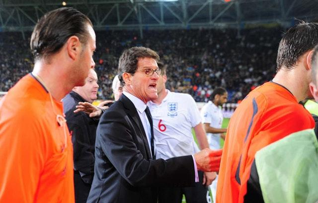Fabio Capello, pictured here in Ukraine in 2009, was manager when England last lost a qualifying match (Owen Humphreys/PA)
