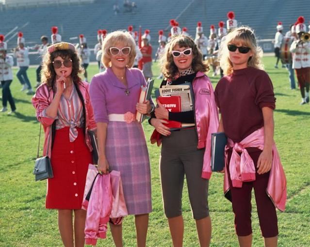 The fashion-forward Pink Ladies of <em>Grease 2</em>. (Photo: Paramount Pictures)