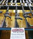 Semi-automatic rifles on sale in a store in Utah in February 2018 (AFP Photo/GEORGE FREY)
