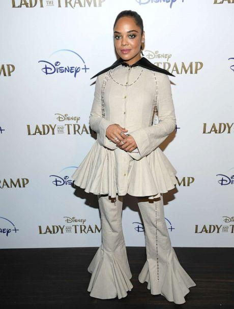 PHOTO: Tessa Thompson attends as Cinema Society hosts a special screening of Disney+'s 'Lady And The Tramp' at iPic Theater on Oct. 22, 2019, in New York. (Dimitrios Kambouris/Getty Images)